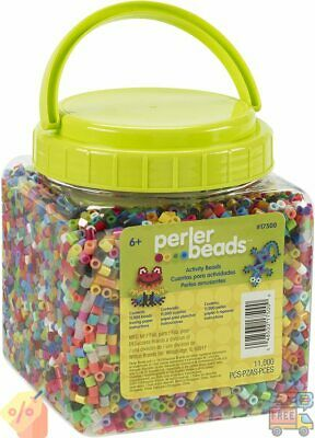 Perler Beads Assorted Multicolor Fuse Beads for Kids Crafts 11000 pcs