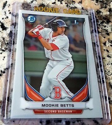 MOOKIE BETTS 2014 Bowman CHROME 1st Rookie Card RC Red Sox Dodgers  HOT