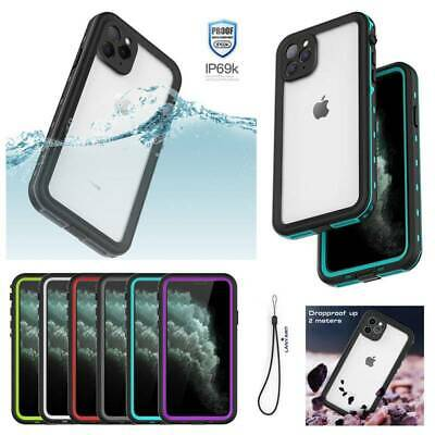 For Apple iPhone 11 Pro Max Waterproof Hard PC Armor Case Screen Protector Cover
