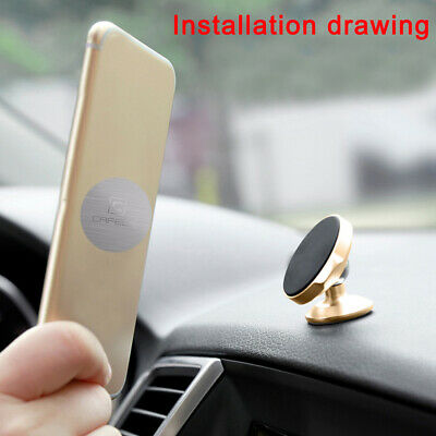 2X Metal Plate Sticker Replacement For Magnetic Car Mount Magnet Phone Holder