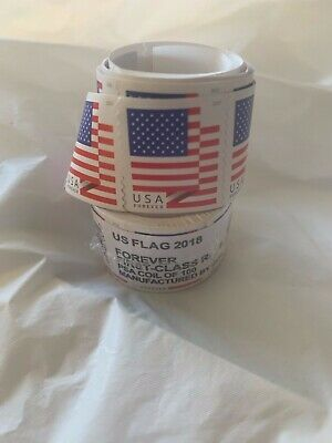USPS US Flag 2018 Forever Stamps - Roll of 100 SEALED FAST FREE SHIPPING