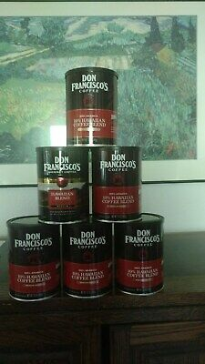 6 empty Don Franciscos metal coffee cans wlids