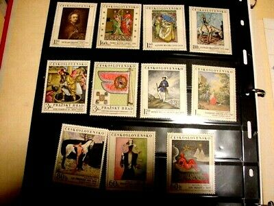 CZECHOSLOVAKIA ART MINT STAMP LOT