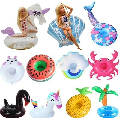 SALE 5 -1 Barbie Or LOL Doll Inflatable Floats For Pool Or Use As Doll Furniture