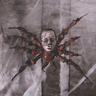 Halloween Spider Decoration With Skull Face - Home Decor - 1 Piece
