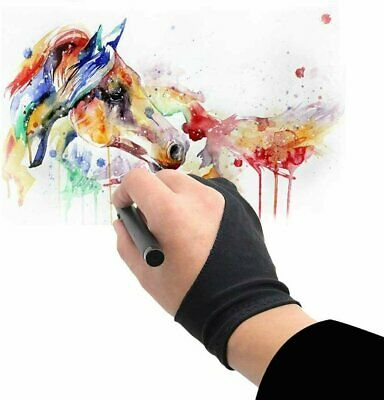 Two Finger Anti-fouling Glove Drawing - Pen Graphic Tablet Pad For Artist Black