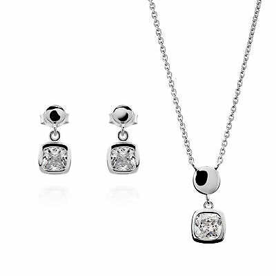 NEW Orphelia  925 Sterling Silver Womens Set: Necklace + Earrings