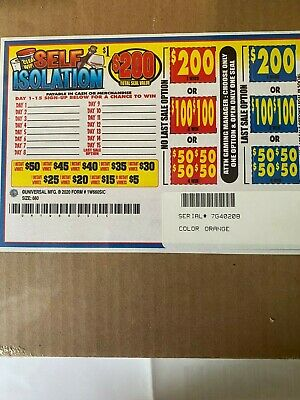 Self Isolation 1 Window Pull Tab 660 Tickets  Free Ship USA 48