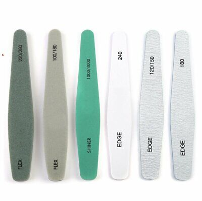 Pro Double Sided Manicure Nail File Emery Boards Buffer Shiner Files Packs of 6
