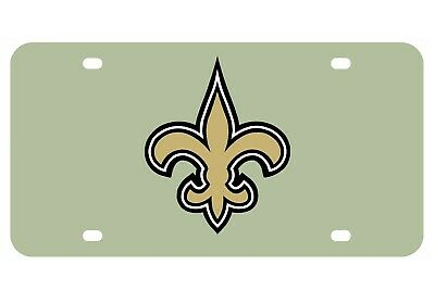 New Orleans Saints Aluminium License Plate Highest Quality For All Vehicles