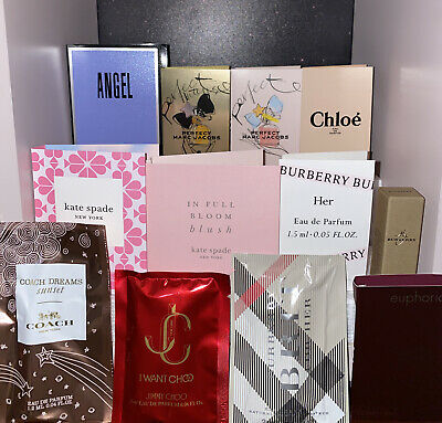 Perfume Samples For Women's lot Of 12 High End Designers