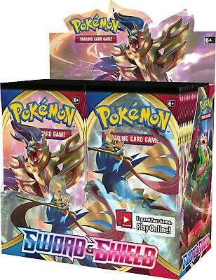 SWORD AND SHIELD BASE SET 36 ct BOOSTER BOX POKEMON TCG NEW - SEALED IN STOCK