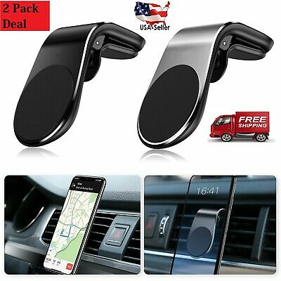 Car Magnetic Air Vent Stand Mount Holder Universal For Mobile Cell Phone2 Pack