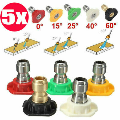High PressurePower Washer Spray Nozzle Kit 5 Pack Quick Connect 14