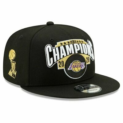 LOS ANGELES LAKERS NEW ERA 2020 NBA FINALS WORLD CHAMPION LOCKER ROOM HAT CAP