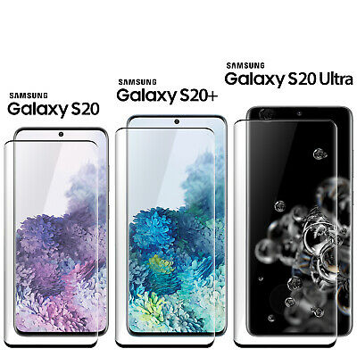 Samsung Galaxy S20 Ultra S20- Plus 5G Full Cover Screen Protector Tempered Glass