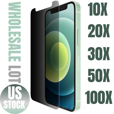 Wholesale Anti-Spy Privacy Tempered Glass Screen Protector Lot For iPhone 12 Pro