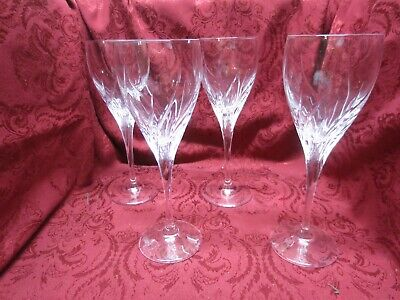 4 Marquis by Waterford Summer Breeze Crystal Water White Wine Goblets