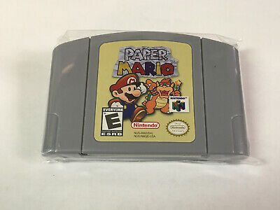 US Version PAPER MARIO Game Cartridge Card for Nintendo 64 N64 Console