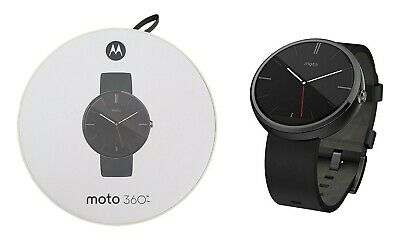 Motorola Moto 360 EU 46mm Stainless Steel Case Leather Band Smartwatch 4GB