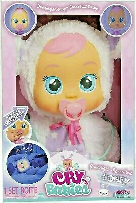 Cry Babies Goodnight Coney Sleepy Time Baby Doll Light Up Toy Gift- NEW