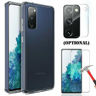 For Samsung Galaxy S20 FE 5G Clear Case Camera - Screen Protector Tempered Glass