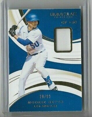 MOOKIE BETTS 2020 Immaculate Baseball Jersey Patch Relic 2099 - DODGERS AD