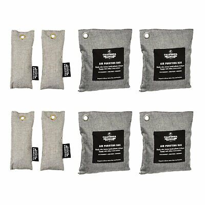 8 Activated Air Purifying Charcoal Bamboo Freshener Deodorizer Dehumidifier Bags