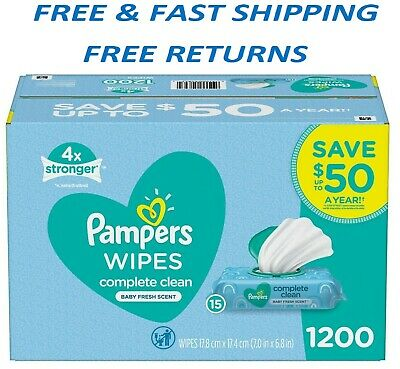 Pampers Scented Baby Wipes Complete Clean 1200 ct-