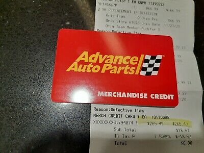 Advance Auto Gift Card 265-49