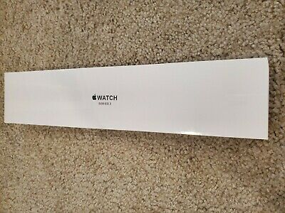 NEW SEALED Apple Watch Series 3 GPS Space Grey Aluminum Black Sport Band 38mm