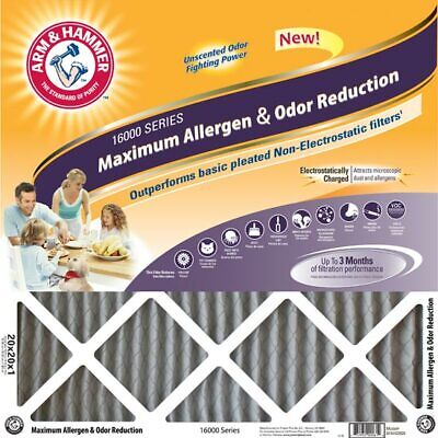 20x25x1 Arm and Hammer Max Odor Air Filter 4 Pack
