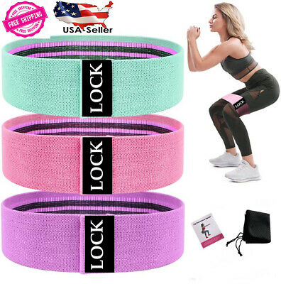 Fabric Resistance Bands Non-SlipThick-Wide Hip Booty Workout Exercise Bands USA