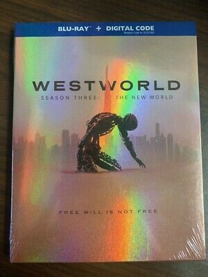 GENUINE USA WESTWORLD SEASON THREE 3 THE NEW WORLD BLU-RAY DIGITAL SLIPCOVER NEW