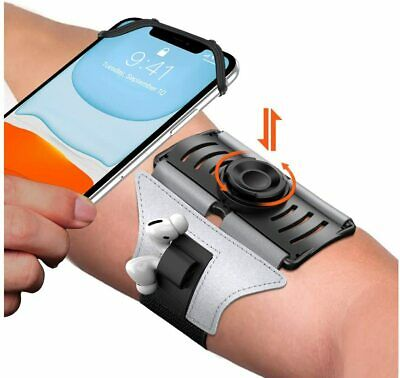 VUP Upgraded Running Armband Detachable - 360°Rotation with Silver