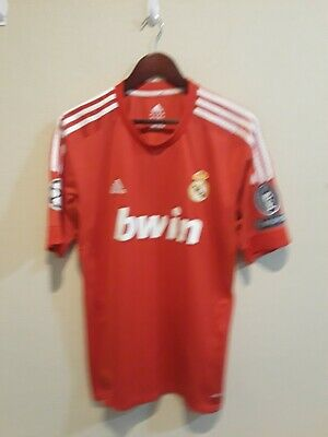 Adidas Climacool Real Madrid FC Mens Red Soccer Jersey Ronaldo 7 Size L