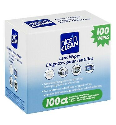 Nice N Clean Pre-moistened cleaning Lens Wipes 100 ct