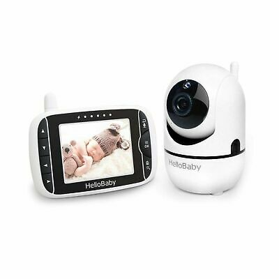 HelloBaby HB65 3-2 inch Baby Monitor with Remote Night Vision Black