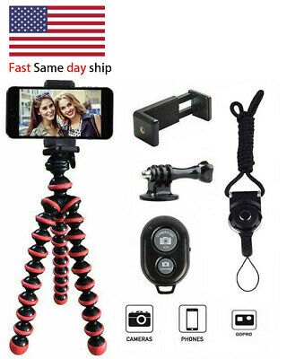 Phone Tripod Portable and Flexible Adjustable Cell Phone Stand Holder with Remot
