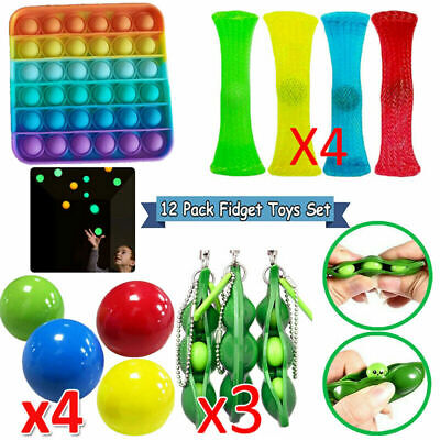12PCS Fidget Sensory Toys Set Stocking Stuffer For Stress Relief Anti-Anxiety US