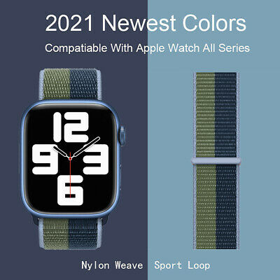 Nylon Sport Loop iWatch Band For Apple Watch Series 7-1 SE 384142404445mm