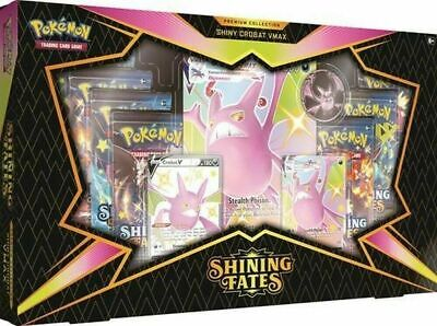 Shining Fates Premium Collection Crobat V Pokemon sealed box