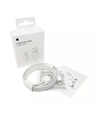 Original OEM Apple iPhone Lightning USB Cable Charger 2M FREE CABLE PROTECTOR