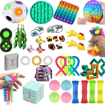 1-25X Fidget Toys Set Stress Relief Hand Toy Kids Adults US Sensory Tools Bundle