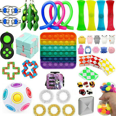 Sensory Tools Bundle Stress Relief Kids Adults 1-25Pcs Push Fidget Toys Set Hot
