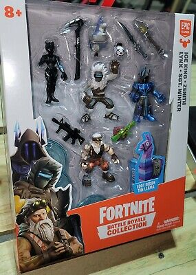 FORTNITE BATTLE ROYALE COLLECTION ICE KING ZENITH LYNX SGT- WINTER 4 FIGURE PACK