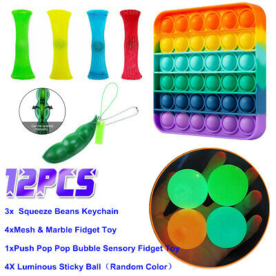 12 Pack Fidget Toys Set Sensory Stocking Stuffer For Stress Relief Anti-Anxiety