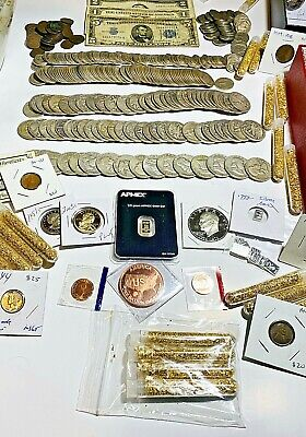 Vintage Sale! Old Silver US Auction Coin Lot.Proof, Wheats,90% Silver. 15 Coins!