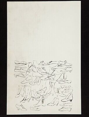 PM12 1950s Andy Warhol A la Recherche du Shoe Perdu Original Offset Lithograph