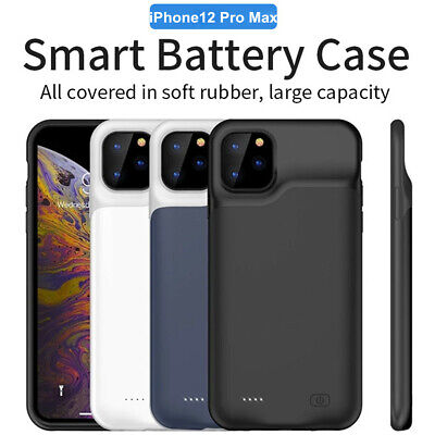 iPhone 12 Pro Max External Battery Case Fast Charger Power Bank Charging Cover